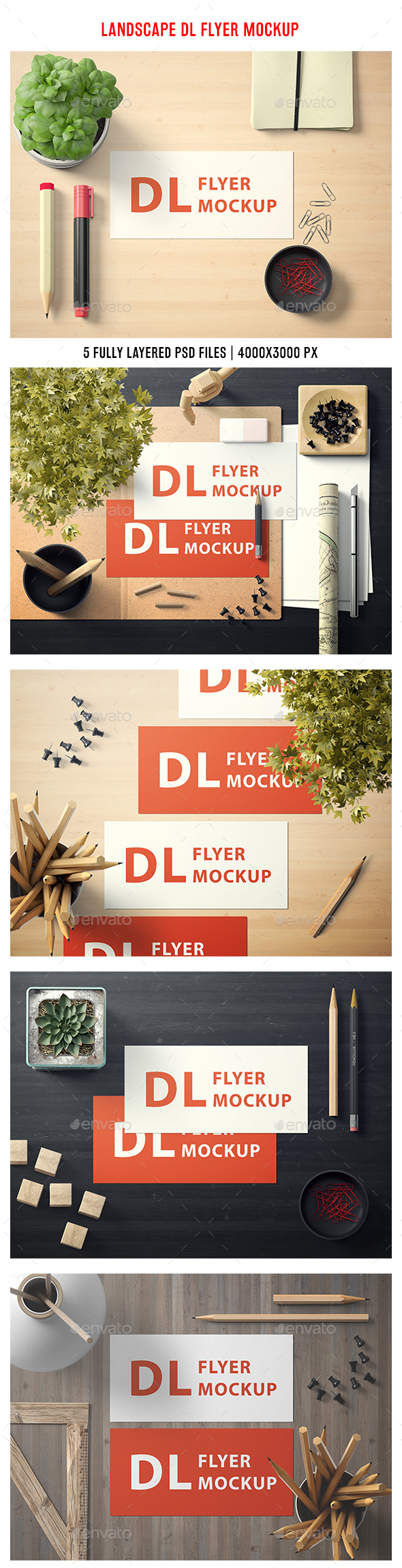 Landscape DL Flyer Mockup - Flyers Print