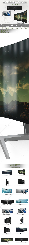Monitor 49 Inches CHG90 QLED Gaming Monitor Mockup - Product Mock-Ups Graphics