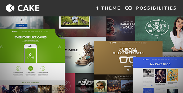 Cake - Responsive Multi-Purpose WordPress Theme