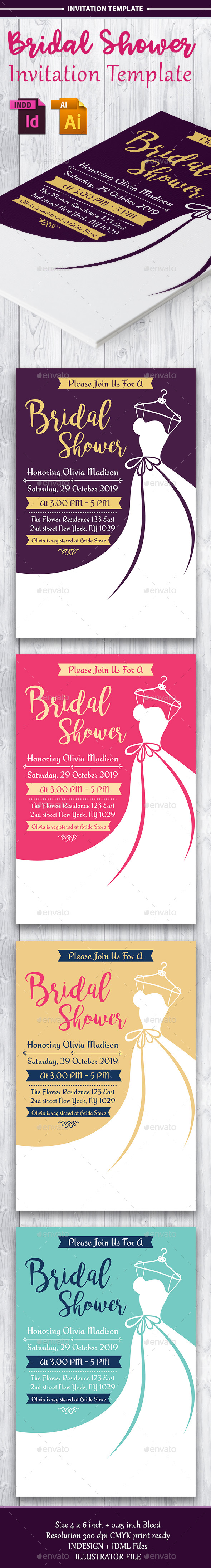 GraphicRiver Bridal Shower Invitation Template Vol 3 20884962