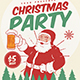 Retro Christmas Party Flyer - GraphicRiver Item for Sale