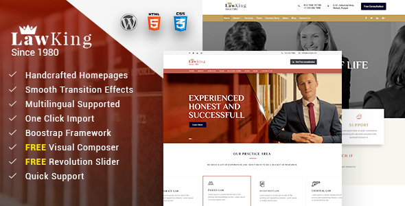 Download Lawking - Lawyer WordPress Theme