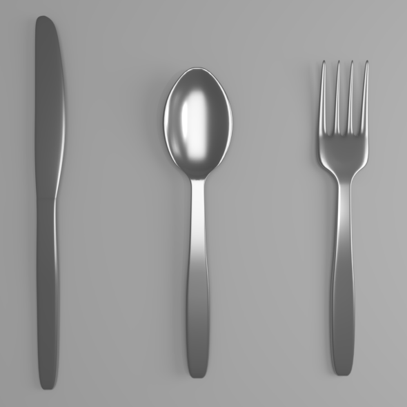 Silverware Set - 3DOcean Item for Sale