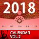 2018 - 2017 Calendar Minimal Wall Vol.2