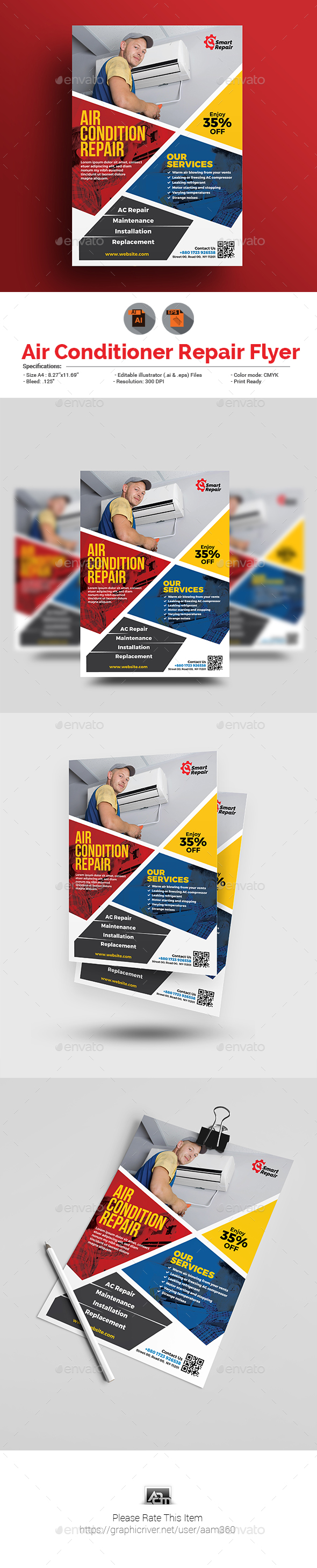 GraphicRiver Repair Service Flyer Template 20885865