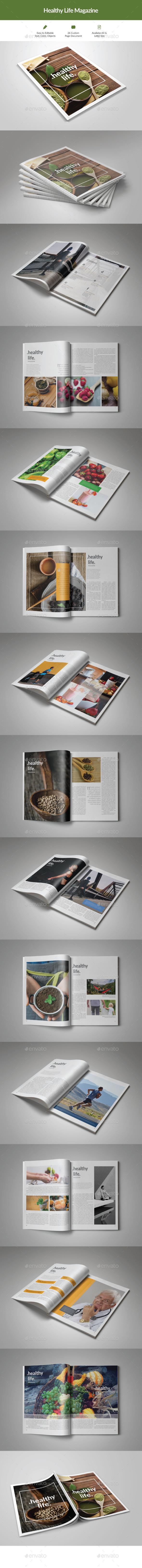 Healthy Life Magazine - Magazines Print Templates