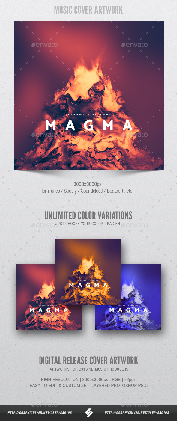 Magma - Music Album Cover Artwork Template - Miscellaneous Social Media