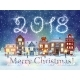 Christmas Winter City Street - GraphicRiver Item for Sale