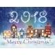 Christmas Winter City Street - GraphicRiver Item for Sale