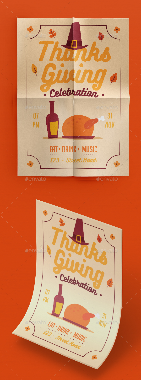 GraphicRiver Thanksgiving Flyer 20886136