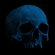 Old Human Skull Rotating In The Dark Loop - VideoHive Item for Sale