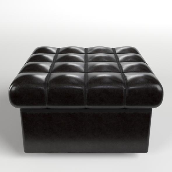 3DOcean Leather Pouf Sofa 20886323