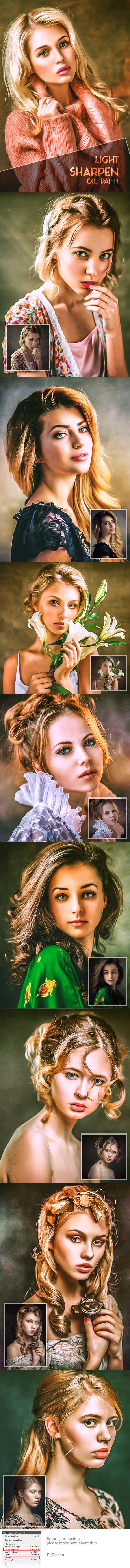 Light Sharpen Oil Paint - Photo Effects Actions