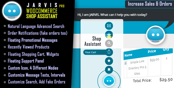 WooCommerce Shop Assistant - JARVIS Pro - CodeCanyon Item for Sale
