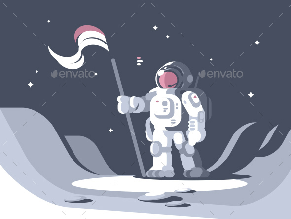 Astronaut Character in Spacesuit - People Characters