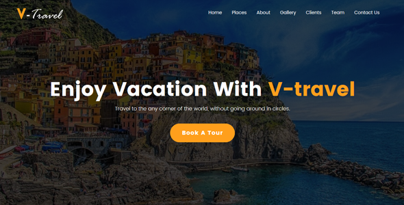 Image of V-Travel - Travel agency Responsive Website Template
