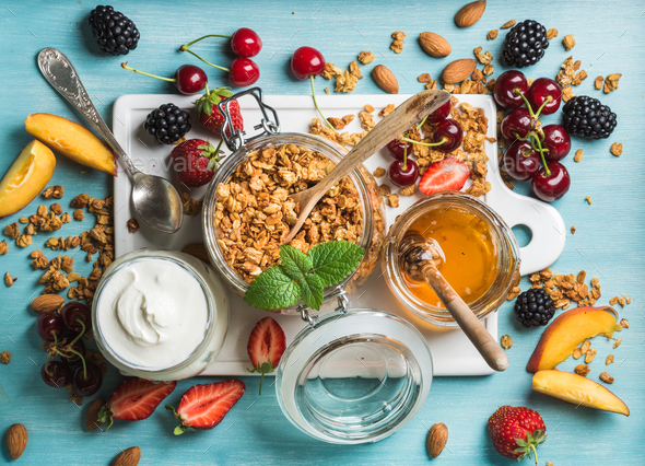 Healthy breakfast ingredients - Stock Photo - Images