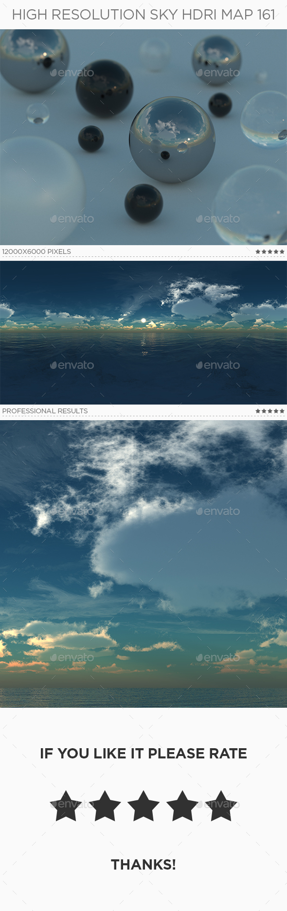 High Resolution Sky HDRi Map 161 - 3DOcean Item for Sale