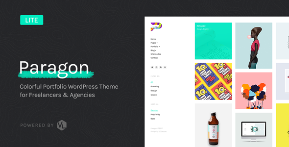 Paragon - Colorful Portfolio for Freelancers & Agencies