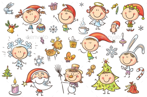 Christmas Kids Set - People Characters
