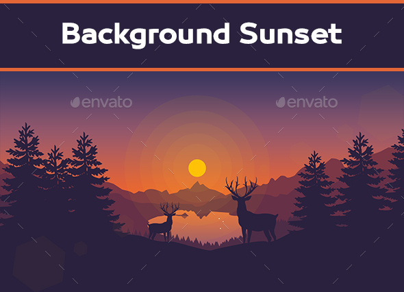 Sunset Background - Backgrounds Graphics