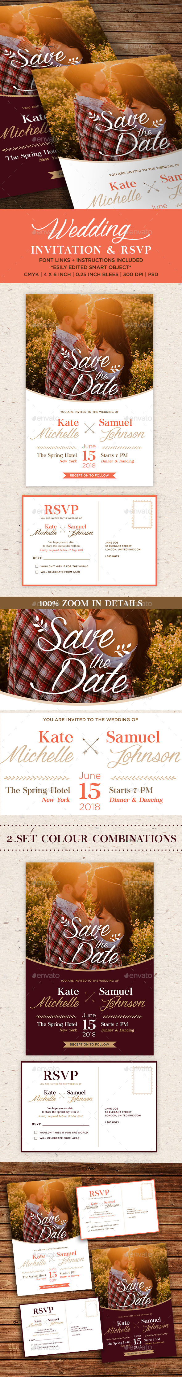 GraphicRiver Wedding Invitation Template 20855777