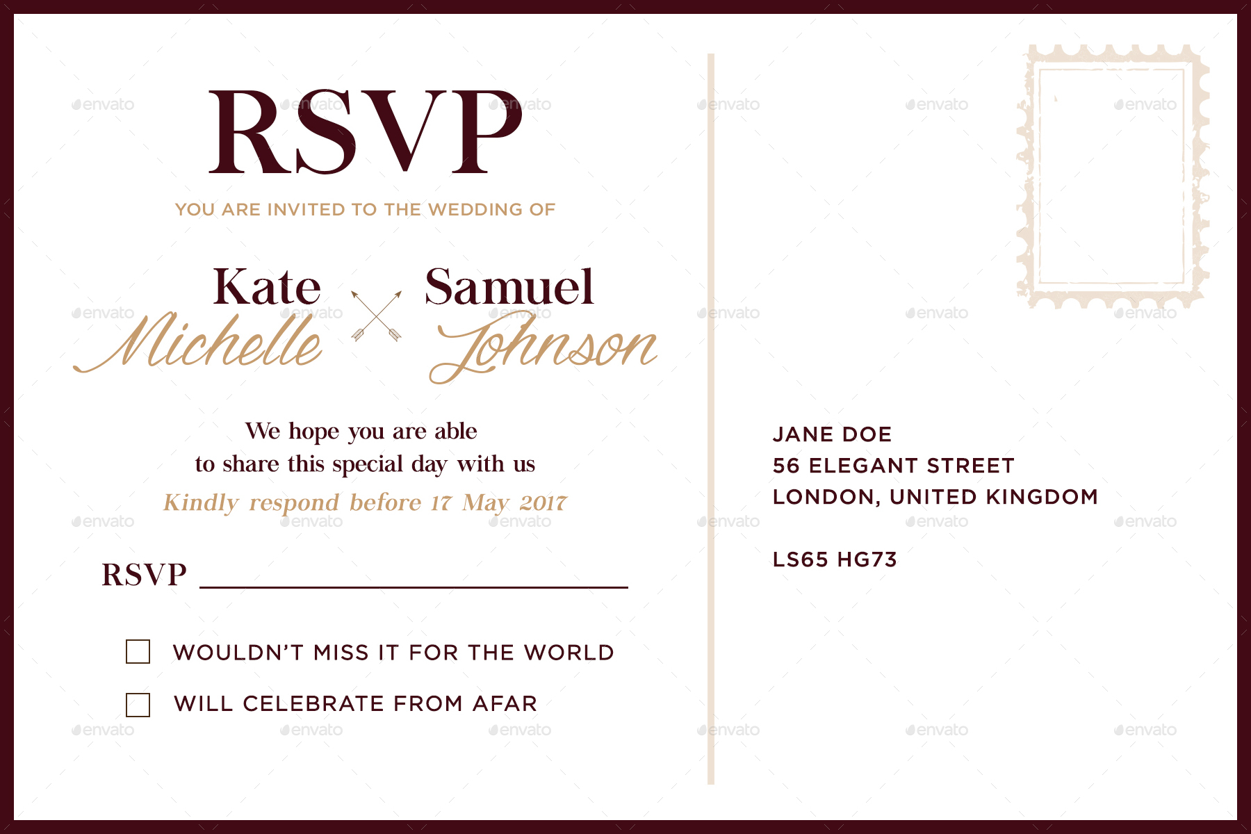 Wedding invitation template by ilmarre graphicriver wedding invitation template weddings cards invites preview image setweddinginvitationtemplatebackg stopboris Image collections