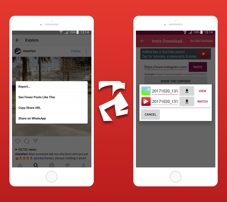 Facebook Instagram Downloader With Admob Native , Startapp , Facebook  Network ADS 2018