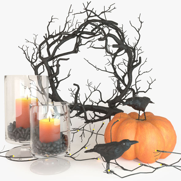 3DOcean Halloween decor set 20887761