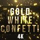 Gold White Confetti