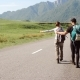 Travel Hitchhiker Couple on a Road - VideoHive Item for Sale