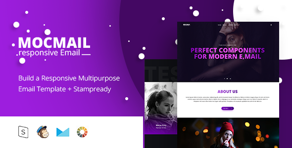 MOCMAIL - Responsive Email + StampReady Builder - Email Templates Marketing