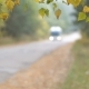 Autumn Landscape. Transport Moves Along the Road. - VideoHive Item for Sale
