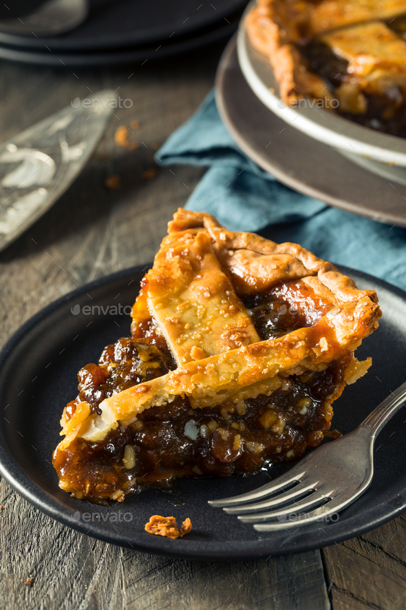 Sweet Homemade Mincemeat Pie - Stock Photo - Images