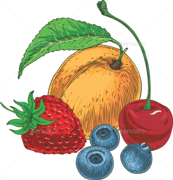 GraphicRiver Fruits and Berries Composition 20888133