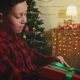 Excited Boy Opening Christmas Gift - VideoHive Item for Sale