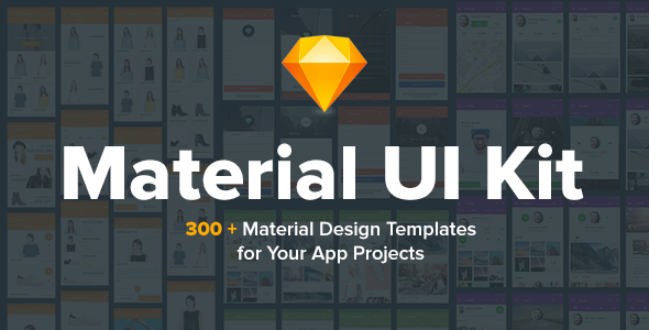 ThemeForest Material Design UI KIT 300& for Sketch 20823866