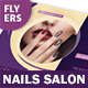 Nails Salon Flyers – 4 Options