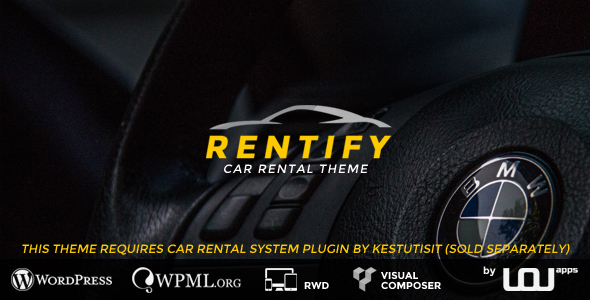Rentify - Car Rental WordPress Theme - Travel Retail