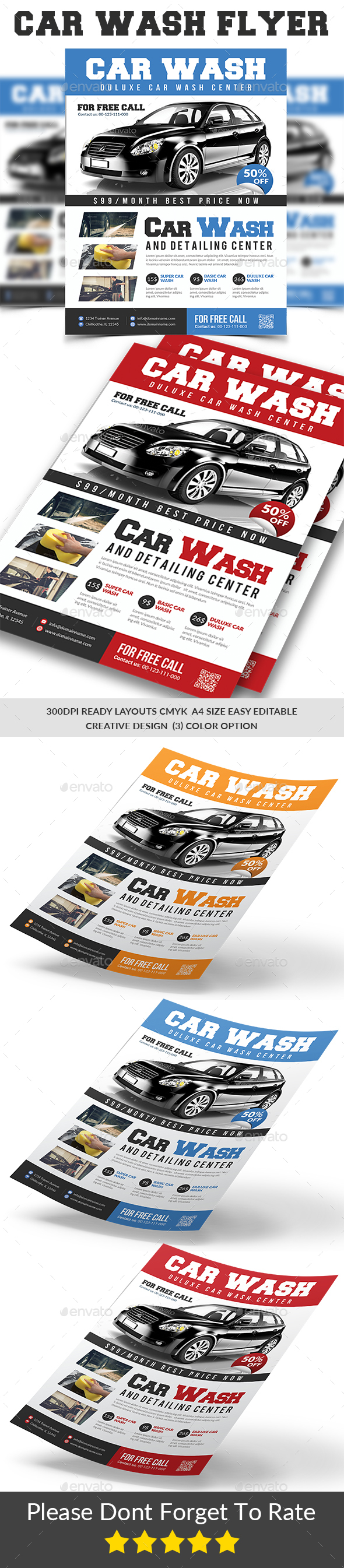 GraphicRiver Car Wash Flyer Templates 20889142