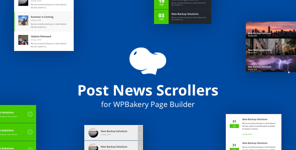 CodeCanyon Post News Scrollers for WPBakery Page Builder Visual Composer 20854957