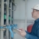 Engineer Inspects the Gas Boiler - VideoHive Item for Sale