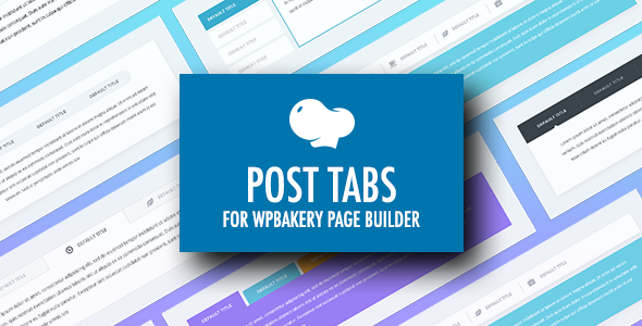 Post Tabs for WPBakery Page Builder (Visual Composer) - CodeCanyon Item for Sale
