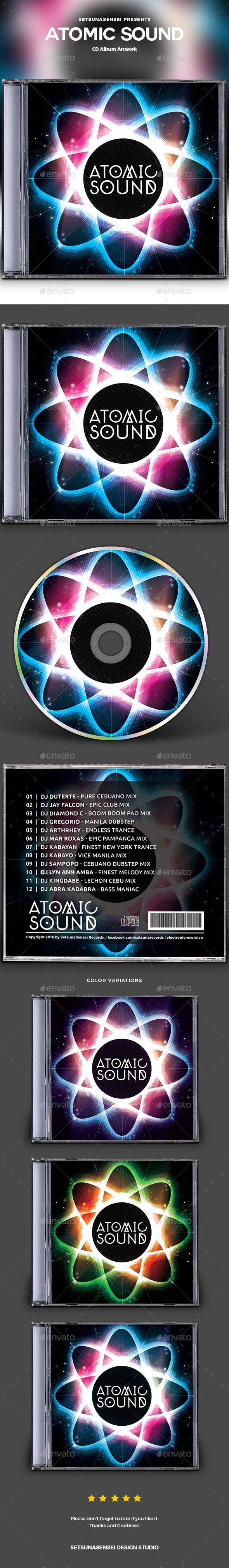 Atomic Sound CD Album Artwork - CD & DVD Artwork Print Templates