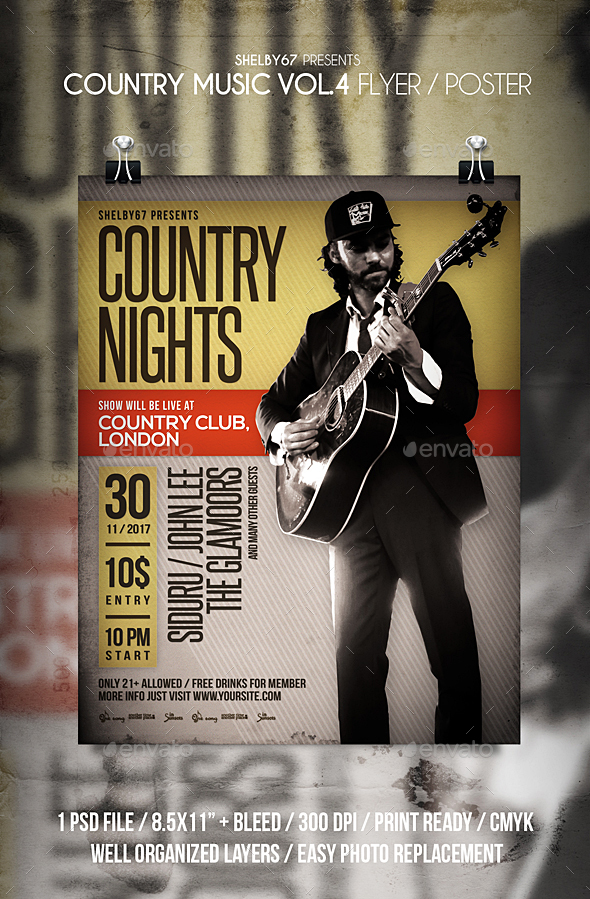 GraphicRiver Country Music Flyer Poster Vol 4 20889397