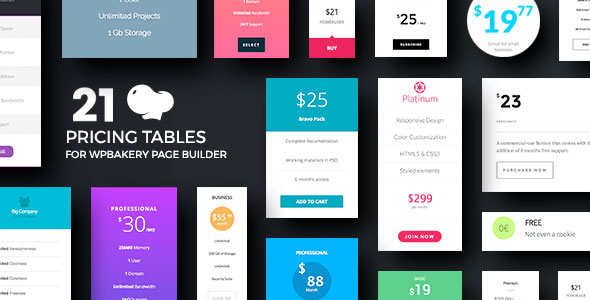 Pricing Tables for WPBakery Page Builder (Visual Composer) - CodeCanyon Item for Sale