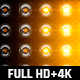 120 Flashing Light Full HD and 4K Warm Glow Loop Footages/ Gold Award Led Light Stage Backgrounds - VideoHive Item for Sale