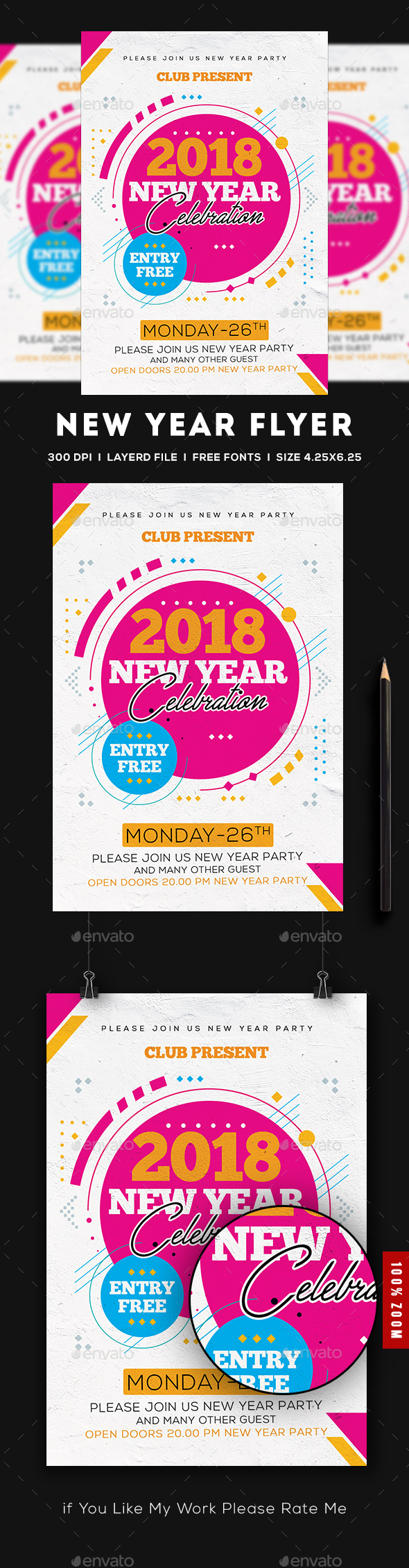 2018 New Year Flyer - Clubs & Parties Events