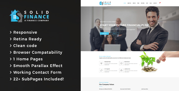 Solid Finance - Consulting Business, Finance HTML5 Template