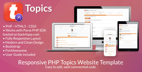 CodeCanyon Topics Social Discussion PHP Web Template 20889763